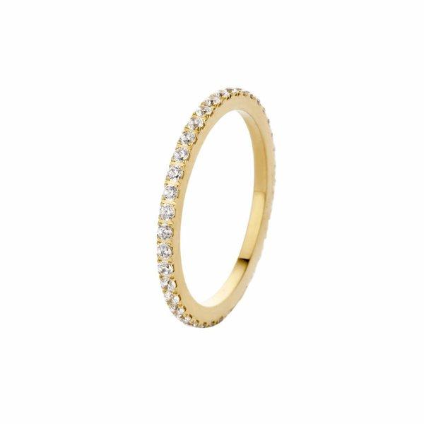 Melano Melano Sade Kristallring Gold FR17GDCR