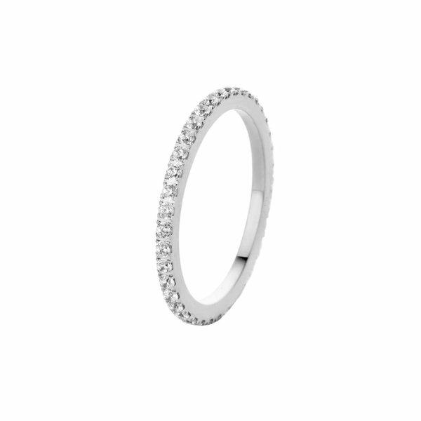 Melano Melano sade crystal ring zilver FR17SSCR