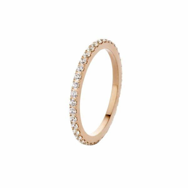 Melano Melano sade crystal ring rosegoud FR17RGCR