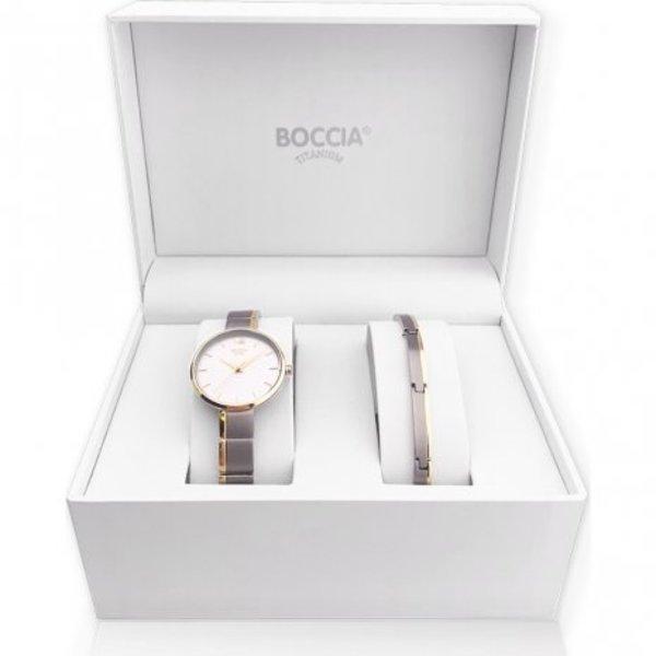 Boccia Boccia titanium horloge set voor dames 3308-02