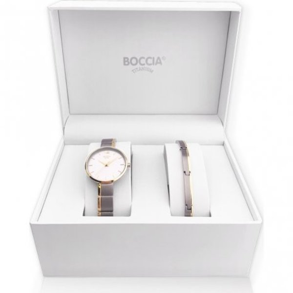 Boccia Boccia titanium watch set for women