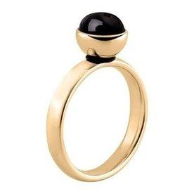 Melano Melano Twisted Ring vergoldet