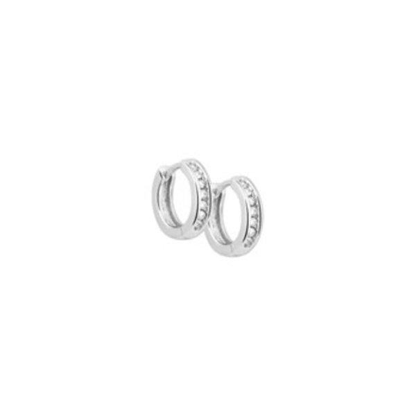Klapoorringen diamant 0.15ct (2x0.75ct) H P1