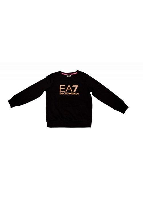 EA7 ARMANI EA7 GIRLS SWEATER BLACK