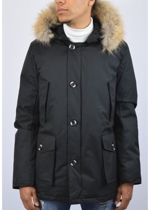 AIRFORCE AIRFORCE CLASSIC HERRINGBONE PARKA Black