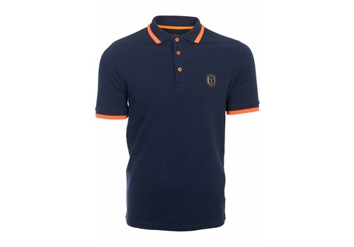 FRANKIE MORELLO FRANKIE MORELLO POLO STRIPE COLLAR