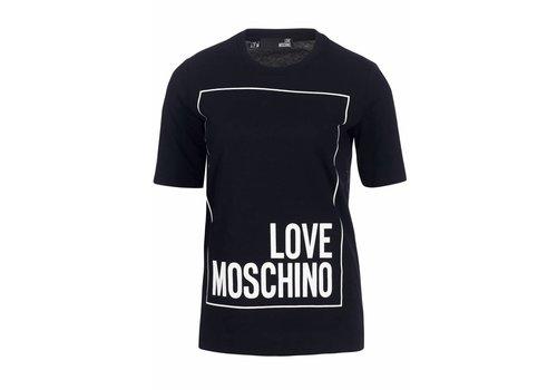 LOVE MOSCHINO LOVE MOSCHINO LONG T-SHIRT BLACK XS