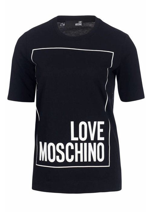 LOVE MOSCHINO LOVE MOSCHINO LONG T-SHIRT BLACK XS