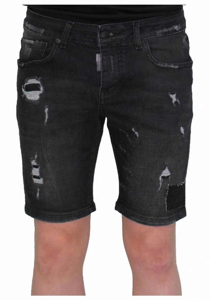 My Brand destroyed short jeans black