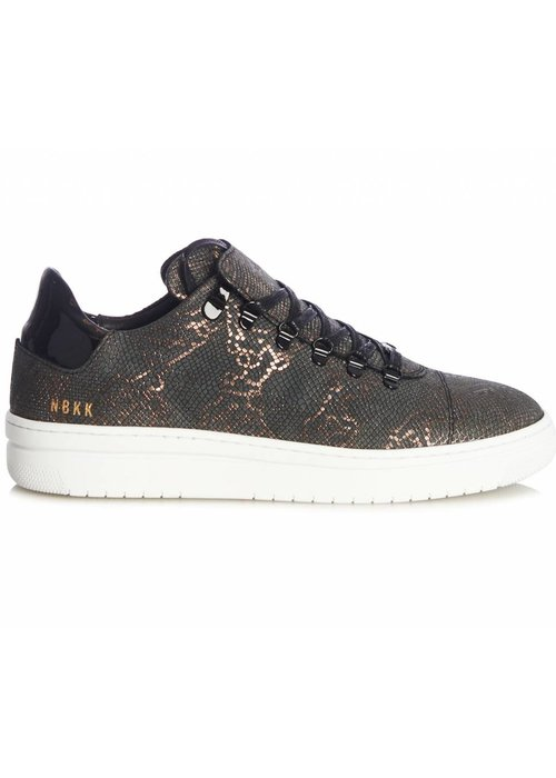NUBIKK NUBIKK SNEAKERS BLACK BRONZE LIZARD
