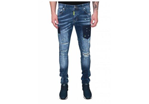 MY BRAND MY BRAND JACK 040 YELLOW DESTROYED JEANS