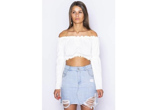 LA SISTERS LA SISTERS MINI DENIM SKIRT