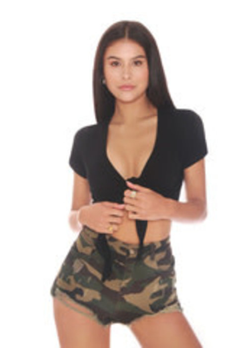 LA SISTERS LA SISTERS HIGH WAISTED  SHORT CAMO