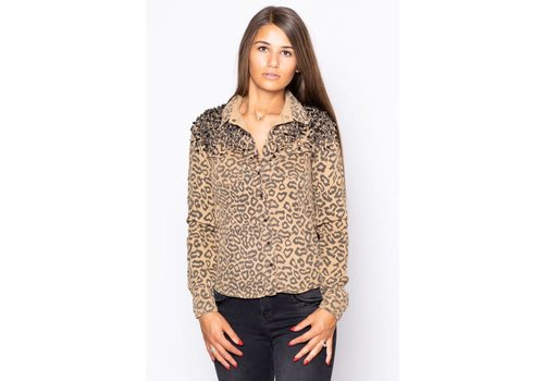 DISHE JEANS DISHE SHIRT LEOPARD CAMEL 102