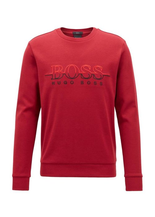 HUGO BOSS HUGO BOSS Sweater met ronde hals en logo van een katoenmix