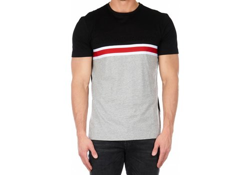 ANTONY MORATO ANTONY MORATO SS19 T-SHIRT WITH EMBOSSED LOGO AND BAND DETAIL BLK