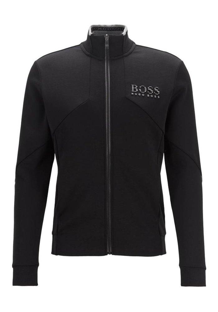 HUGO BOSS Regular-fit sweatshirt met ritssluiting en