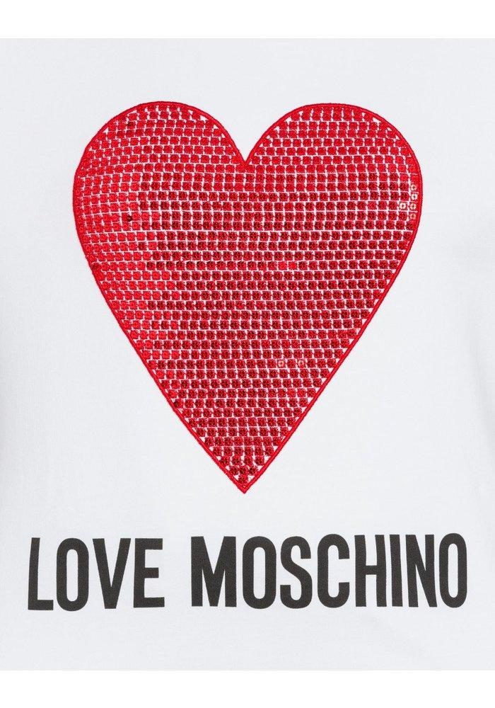 LOVE MOSCHINO SWEATSHIRT ROOD HART A00\W6