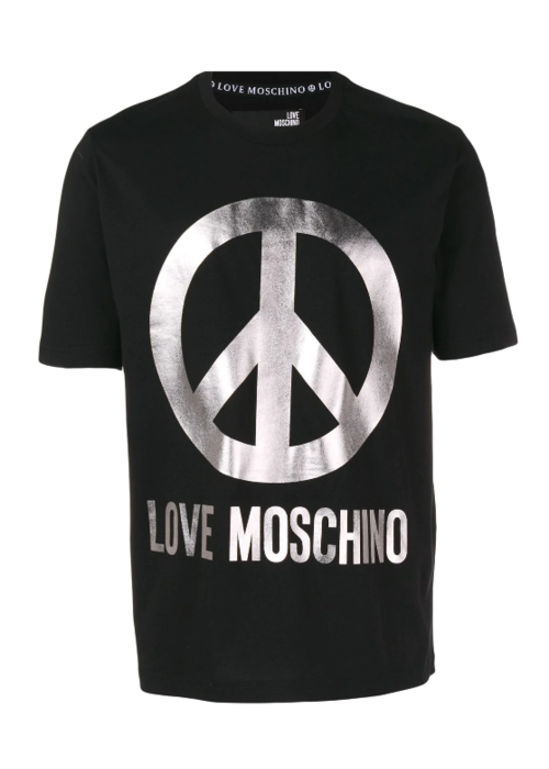 LOVE MOSCHINO LOVE MOSCHINO SILVER LOGO T-SHIRT