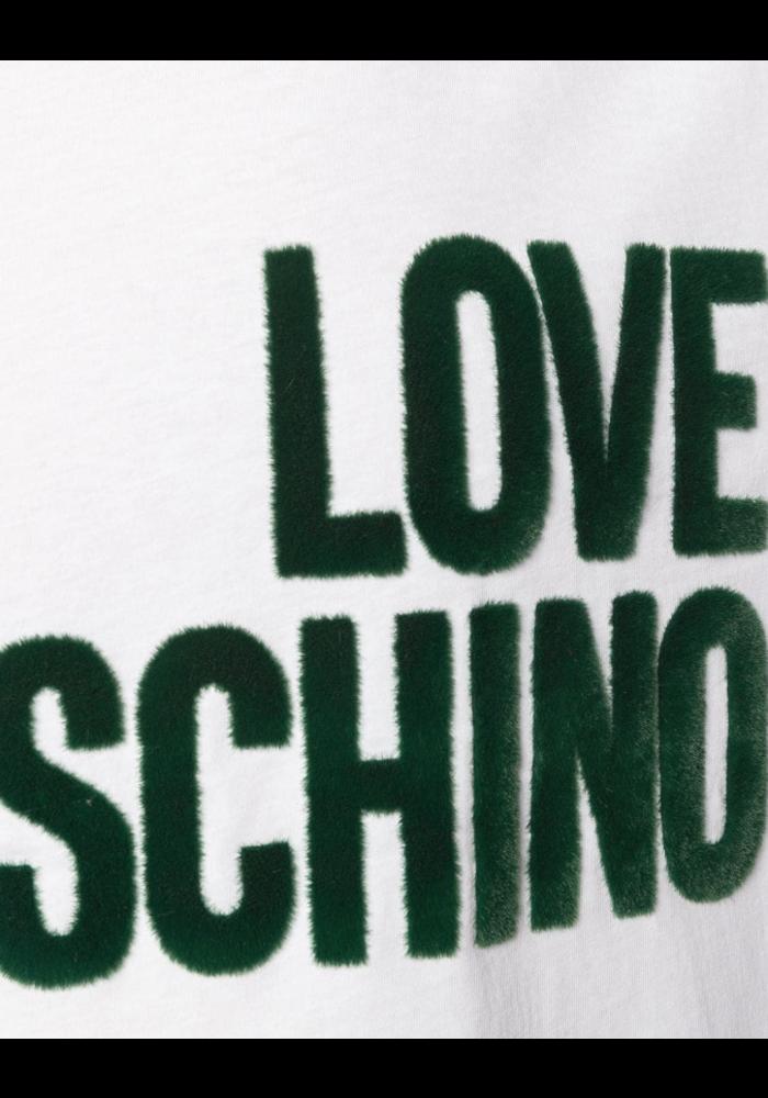 LOVE MOSCHINO T SHIRT LOGO GROEN