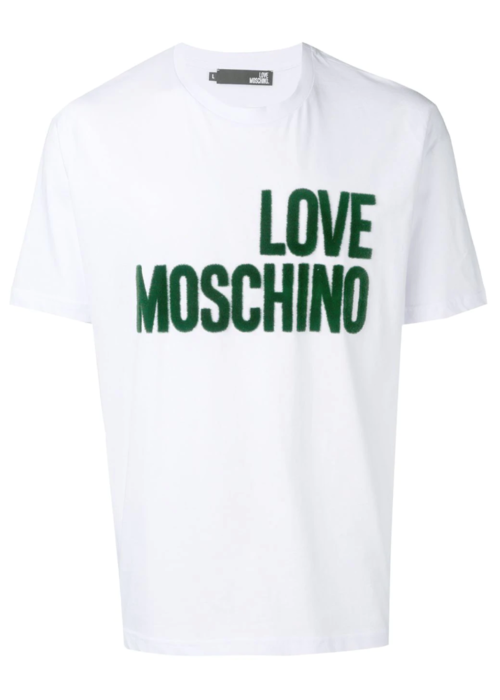LOVE MOSCHINO LOVE MOSCHINO T SHIRT LOGO GROEN
