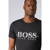 HUGO BOSS Regular-fit T-shirt van katoen met logo-kunstthema