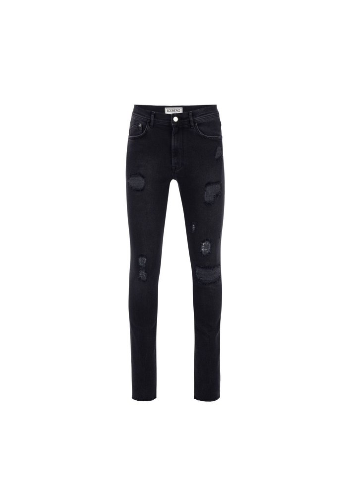 ICEBERG Slim-fit jeans with emblem and logo