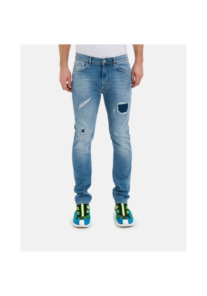 ICEBERG Regular-fit jeans with emblem and logo