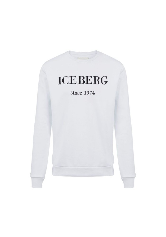 ICEBERG Sweatshirt with maxi-logo embroidery
