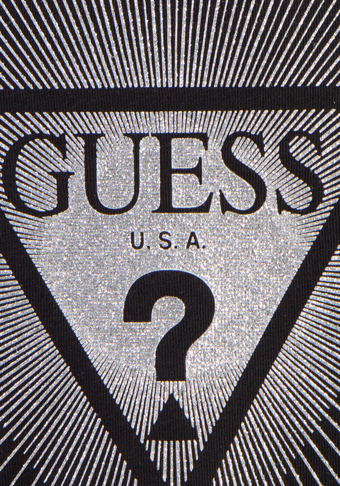 GUESS T-SHIRT KIDS ZILVER LOGO