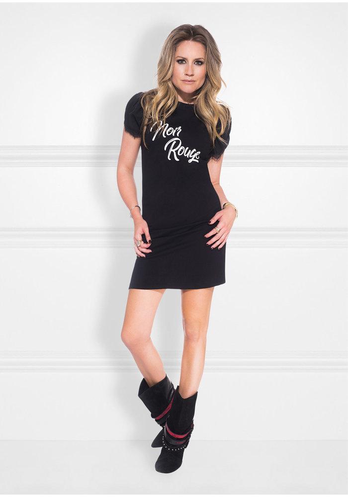 NIKKIE NOIR ROUGE TEE DRESS Dress with artwork