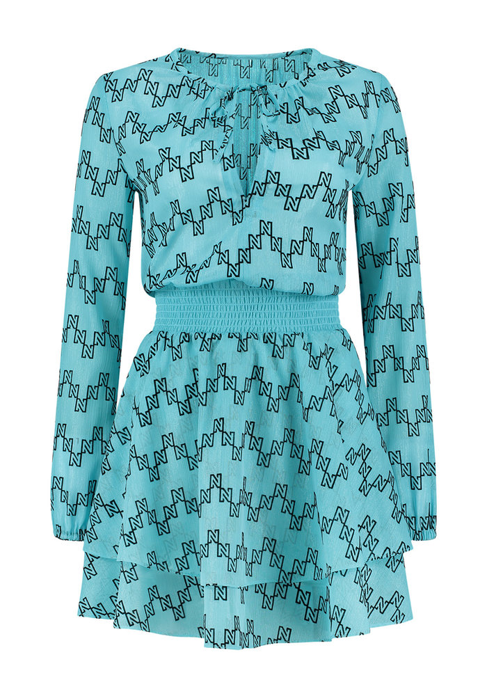 NIKKIE DRESS SYL TURQUOISE