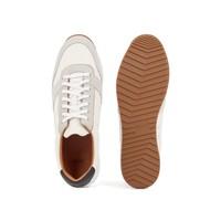 HUGO BOSS Hardloop-geïnspireerde sneakers van gemengde leersoorten