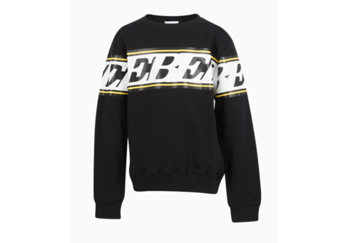 ICEBERG ICEBERG FELPA GIROCOLLO FELPA SWEATER YELLOW STRIPE
