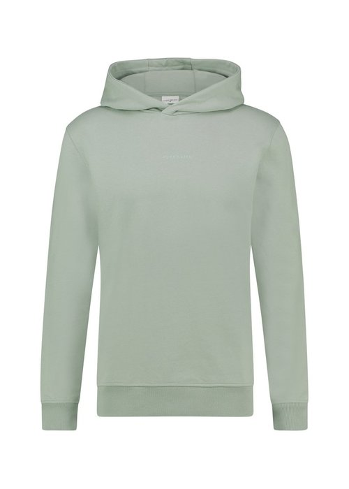 PURE WHITE PUREWHITE LOGO EMBROIDERY HOODIE MINT