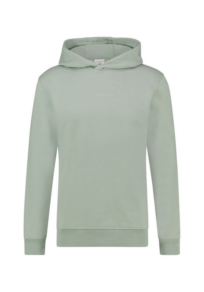 PUREWHITE LOGO EMBROIDERY HOODIE MINT