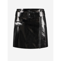 NIKKIE LACQUERED SKIRT WITH BELT