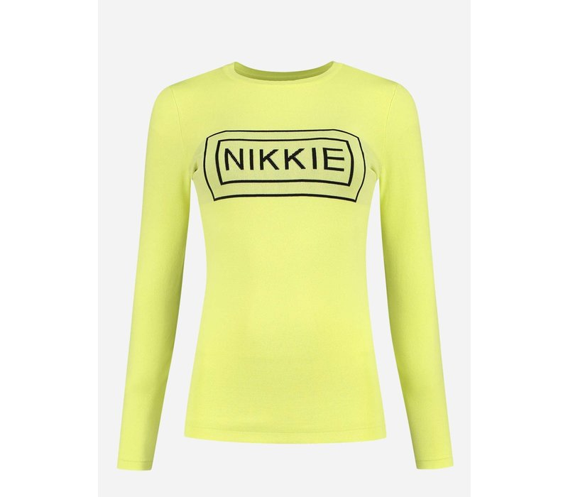 NIKKIE TIGHT TOP WITH SQUARE ARTWORK