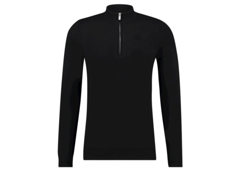 PURE WHITE PURE WHITE ESSENTIAL KNITTED HALF ZIP JUMPER BLACK