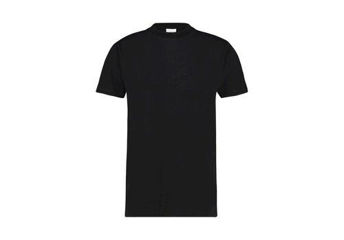 PURE WHITE pure white basic t-shirt ZWART