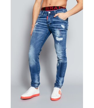 MY BRAND My brand blue distressed dark faded jeans