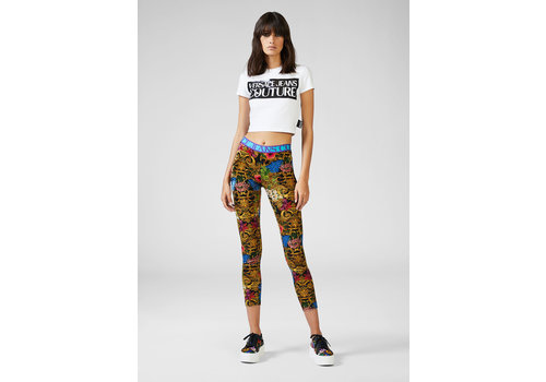 VERSACE JEANS COUTURE VERSACE COUTURE TROPICAL BAROQUE  LEGGINGS