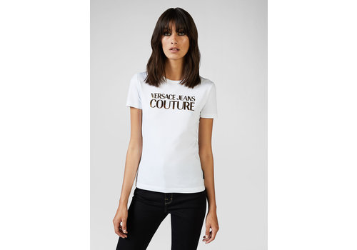 VERSACE JEANS COUTURE VERSACE COUTURE GOLD-TONE LOGO T-SHIRT
