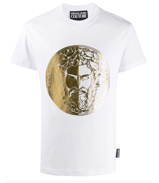 VERSACE JEANS COUTURE RONDE LOGO T-SHIRT WHITE