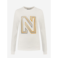 NIKKIE N LOGO EMBROIDERY SWEATER