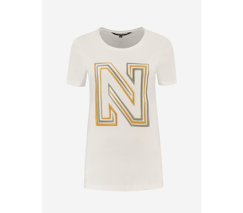 NIKKIE N LOGO EMBROIDERY T-SHIRT