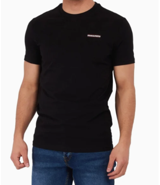 DSQUARED2 ROUND NECK T-SHIRT 100 BLACK