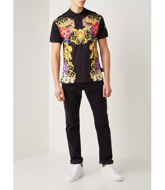 VERSACE JEANS COUTURE GEO INDIA POLO BLACK