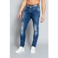 MY BRAND BLUE FADED GREEN SPOT JEANS