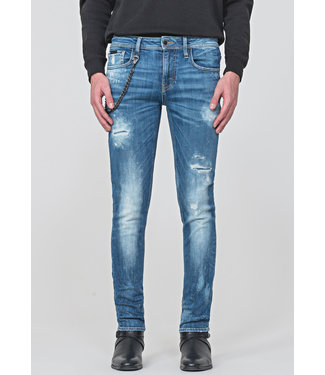 ANTONY MORATO TAPERED-FIT JEANS IN MID-WASH STRETCH DENIM